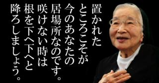 何ができてもできなくてもいい!どんな人でも生きているだけで価値がある!置かれた場所で咲きなさい!渡辺和子の名言