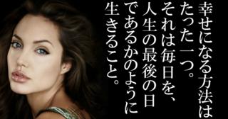 【 アンジェリーナジョリーの名言 】自分の悪いところは全部個性になるし、人生で犯してきた間違いが魅力になるの!